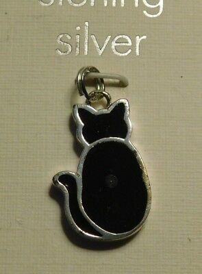 Cat  Sterling Silver Charm