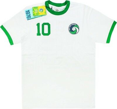 fc8642801 NEW YORK COSMOS 2011-2012 Pele 10 Football Shirt Size 44
