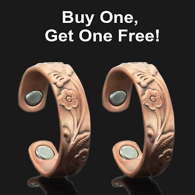 Womens Copper Rings for Arthritis Magnetic Therapy Rings BUY 1 GET 1 FREE - RF