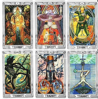 Aleister Crowley Thoth Tarot 79 Cards Deck Lo Scarabeo Regular Size 70x110mm