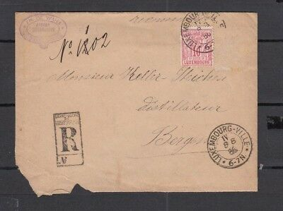 Jan942 LUXEMBOURG 1886 CANCELLED stamp on Cover