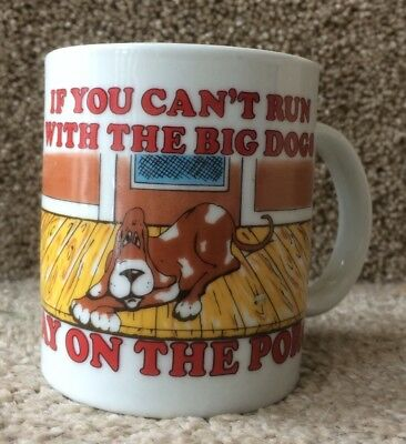 Coffee Mug Basset Hound - If You Can't Run With The Big Dogs Stay On The Porch!