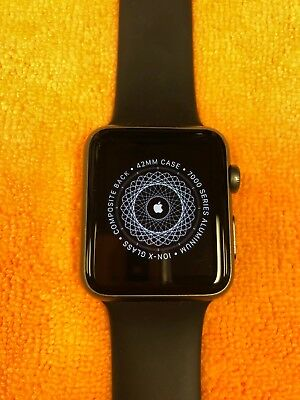 Apple Watch Sport 42mm 7000 series Space Grey FOR PARTS ONLY please read descrip