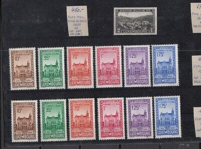 Jan952 LUXEMBOURG 1936 11th Congress Palais Municipal MNH stamps