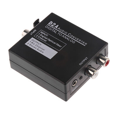 Optical Digital Coaxial Toslink to Analog Audio RCA L R Adapter Converter