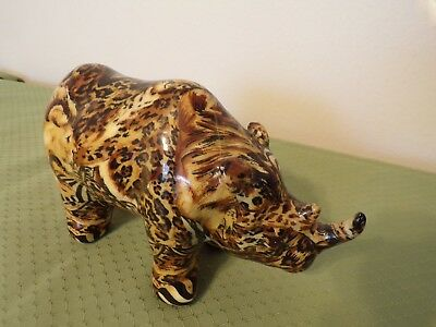 rhino ceramic animal pattern figurine