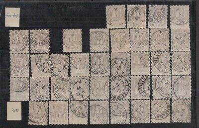 Jan962 LUXEMBOURG Prifix47 Allegorie 1c 1893/1894 CANCELLED stamps