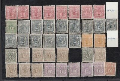 Jan964 LUXEMBOURG Prifix51,50,52,53,55,56,57,58  1882 MNH stamps,High Value!!!!!