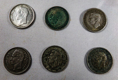 Various Silver Coins; Different dates and  Foreign Countries!  See discription