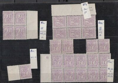 Jan965 LUXEMBOURG Prifix57 Allegorie 1882 1F Lila MNH stamps, High Value!!!!!!!!