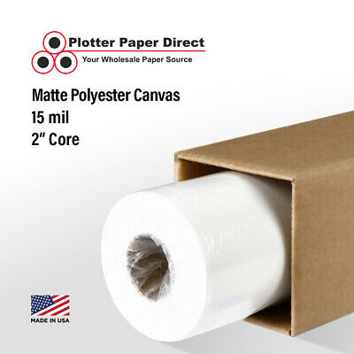 "13"" x 40' Matte Polyester Inkjet Canvas Roll for Wide Format Inkjet Printers"