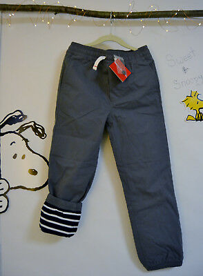 130 GRAY Jersey LINED Joggers Hanna Andersson Boys NEW NWT Soft