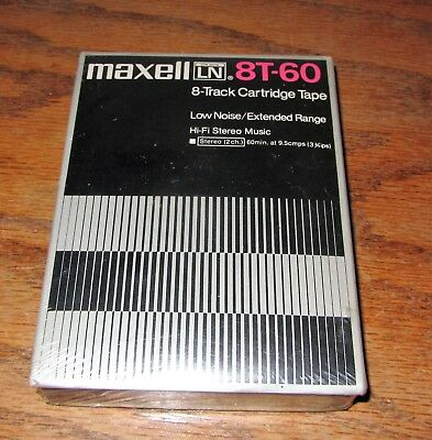 Maxell 8T-60 Blank 8 Track Cartridge Tape Unopened----Free Shipping