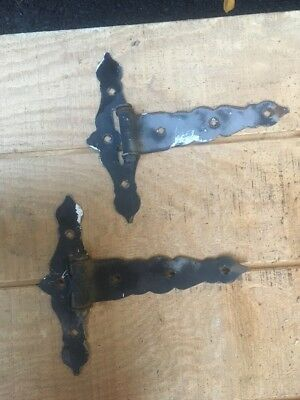 Vintage Large Size Pair Hinges Door Barn Gate Repurpose NOS