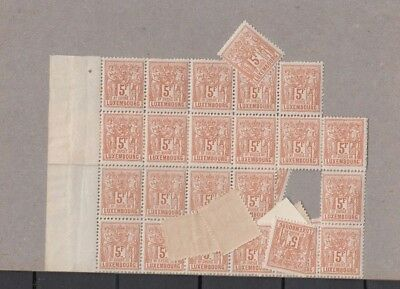 Jan970 LUXEMBOURG Prifix58 Allegorie 1882 5F Brown MNH stamps, VERY HIGH VALUE!!