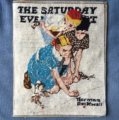 Vintage Norman Rockwell Needlepoint