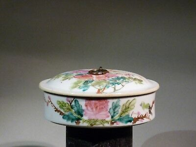 Antique Chinese Porcelain Box with cover Deckeldose Famille rose