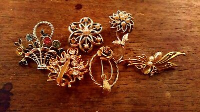 Collection Job Lot of Costume Brooches - 6 - Vintage