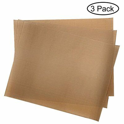 3 Pack Teflon Sheets Heat Press Transfer Mat for Stick Craft Sheet Easy to clean