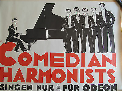seltenes altes Plakat Comedian Harmonists Odeon ca A1
