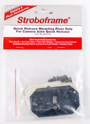 Stroboframe Quick Release Mounting Plate Only For Camera Quick Release (300-PLT)
