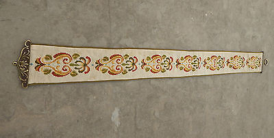 Vintage Beautiful Cross Stitch Bell Pull with One Pull 154x15cm X44