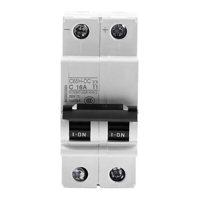 2P 250V Low-voltage DC Miniature Circuit Breaker For Solar Panels Grid System