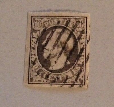 Jan983 LUXEMBOURG Prifix1 Guillaume III  1c Grey 1852 High Value CANCELLED stamp