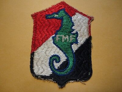 ORIGINAL WW2 USMC 13th Defense Bn Patch  Unusual Weave