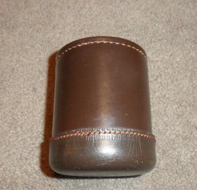 Vintage Brown Leather Dice Cup Unmarked