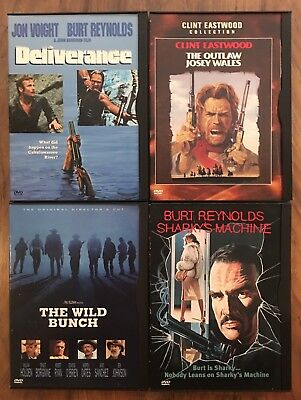 Wild Bunch/Outlaw Josey Wales/Deliverance/Sharky's Machine/Action/Western Dvd's