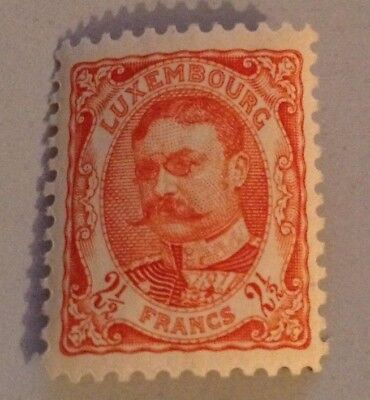 Jan984 LUXEMBOURG Prifix84 G.D. Guillaume 1906  2 1/2c RedOrange High Value MNH
