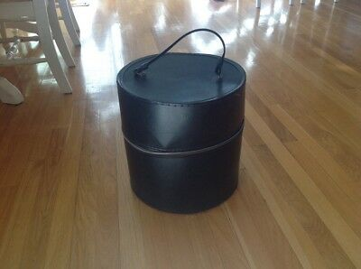 Vintage Black  Hat Box Wig Case