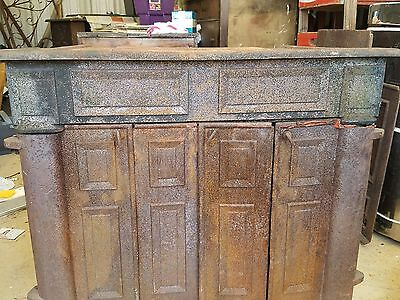 Antique Vintage Ben Franklin cast iron wood burning  fireplace,  stove, heater