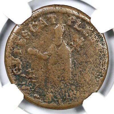 c1670 NGC VG Details St. Patrick Farthing Colonial Copper Coin 1/4p