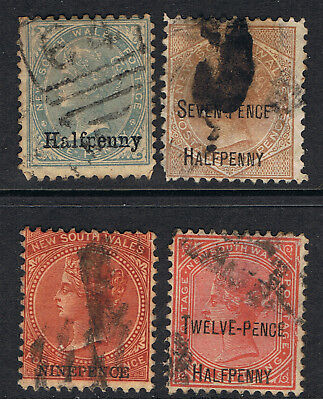 New South Wales 1871 - 1903 Surcharges