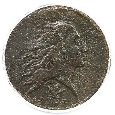 1793 PCGS Genuine Vine and Bars Edge Wreath Large Cent Coin 1c