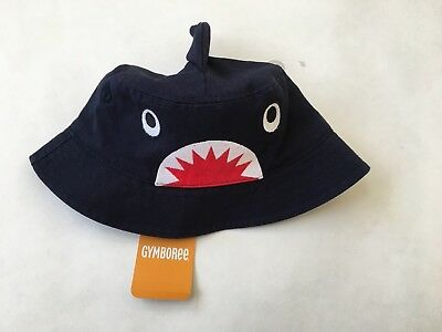 963a990b6e7c4 NEW GYMBOREE BABY Boy Bucket Hat Shark Theme Navy 12-24 M -  9.95 ...