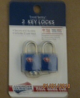 Luggage Lock TSA Travel Sentry Approved blue AMERICAN TOURISTER  2PC BLUE IN PKG