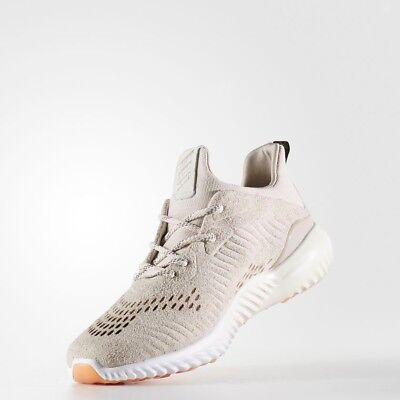 898116ab5dd1c Adidas Alphabounce LEA Size 7.5 Beige Cream Suede Lux Luxe Running Shoes  BY3122
