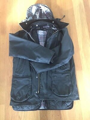 Barbour Bedale and quilted vest (36) with detachable hood