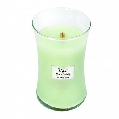 Massage Therapy Spa Special Woodwick Cucumber Melon Candle Lg. 22oz. Hourglass