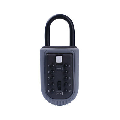 4 Digit Combination Security Lock Password Safety Key Lockbox Alloy for Realtor