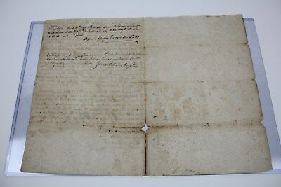 Colonial Late 1700's Document James William Register Deed 1799 Deed Paper