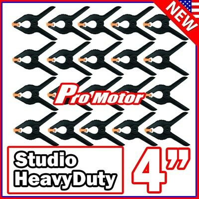 """4"""" inch Heavy Duty Plastic Spring Clamps Tips DIY Small Tool Clip Jaw Opening P1"""