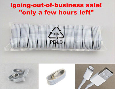 Lot Of 20 pack 3ft Long USB Charger Cable Compatible to charge iPhone 5/6s/7/8+