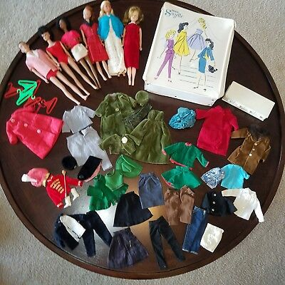 Huge Lot of Vintage Barbies/Clothes/ & Rare Miss Suzette Clone Doll Case 1960's
