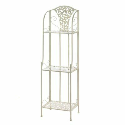 Metal Shelving Rack, Lace Design Standing Storage Bathroom Display Rack Shelf