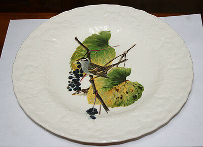 Vintage Alfred Meakin Bird Plate White Crowned Sparrow Luncheon Plate