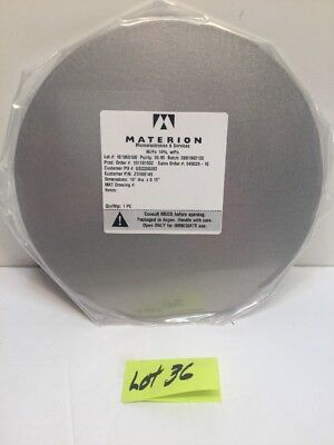 """MATERION Microelectronics 10""""dia. x 0.15"""" Ni/Fe 14% SPUTTER PLATE,TARGET w/ Box"""